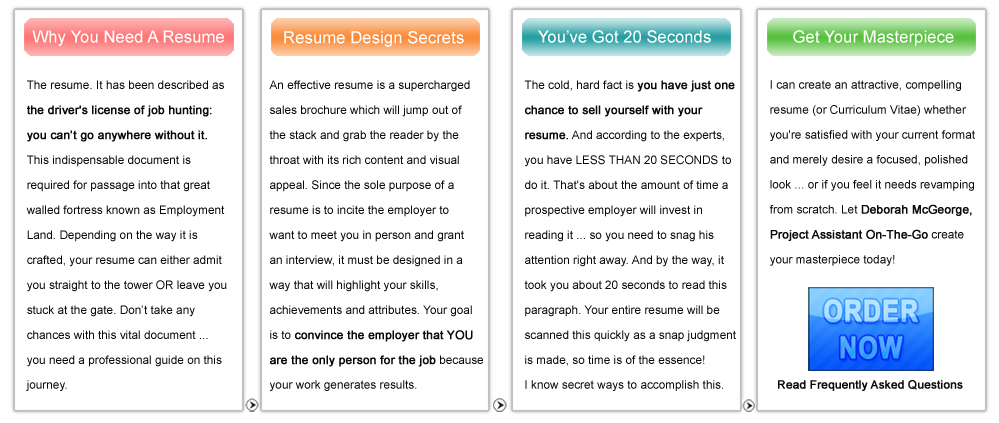 Deborah McGeorge Project Assistant On The Go Resume Design Why You Need One